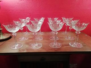12 Copas De Champagne Cristal St Louis Tommy Selladas