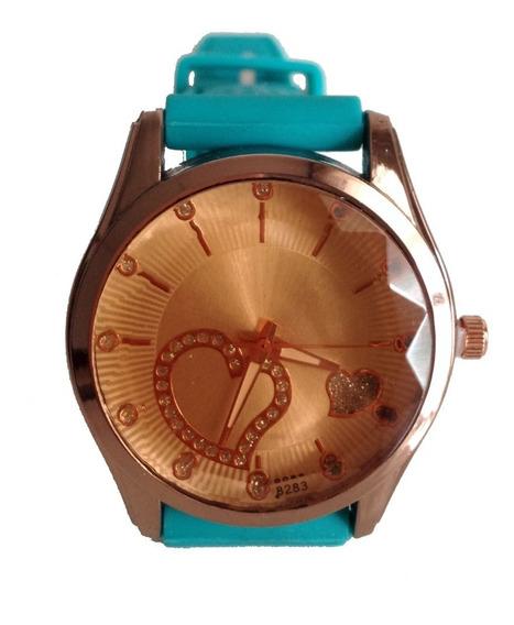 Relógio Feminino Barato Colorido Pulseira Borracha Promoção
