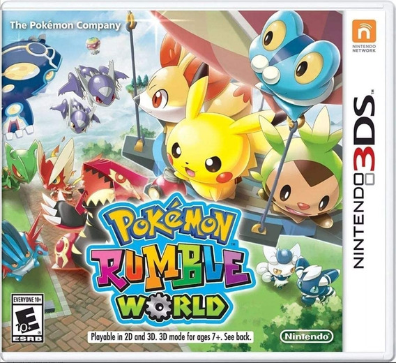 Jogo Pokemon Rumble World 3ds Física Novo Original Lacrado