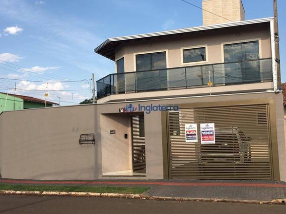 Casa Com 3 Dormitórios À Venda, 128 M² Por R$ 420.000,00 - Conjunto Parigot De Souza 3 - Londrina/pr - Ca1077
