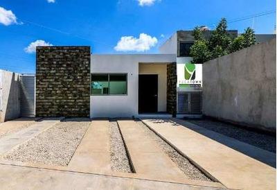 Preciosa Casa De 1 Planta En Santa Rita Cholul, Te Regalamos La Cocina