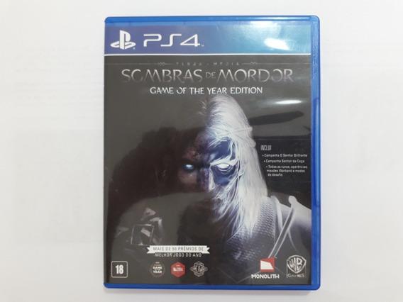Sombras De Mordor Goty Seminovo Ps4 - Física Envio Gratis Cr
