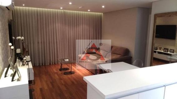 Lindo Apartamento Com Sala Ampliada Com Ar Condicionado, Varanda , Cozinha Americana. - Ap38855