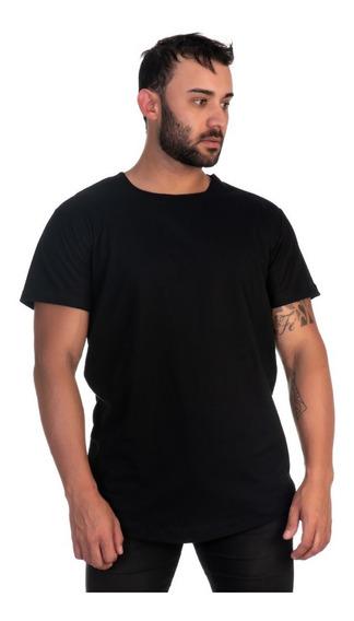Camiseta Long Masculina Swag Lisa Varias Cores Na Promoção