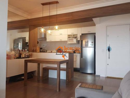 Apartamento Com 3 Dormitórios À Venda, 82 M² Por R$ 585.000,00 - Gopoúva - Guarulhos/sp - Ap2487