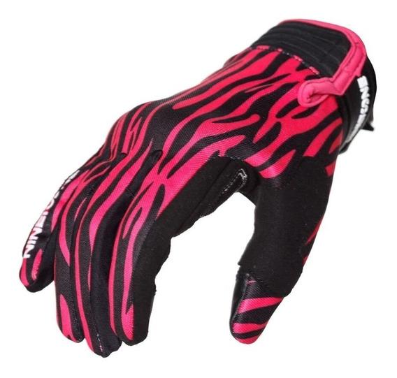Guantes Cortos Nine To One Zebra Pink Proteccion Yuhmak