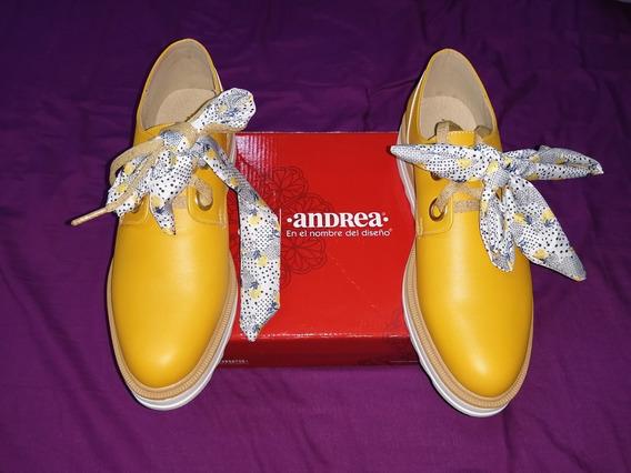 Zapatos Andrea Color Mostaza