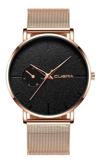 Relógio Masculino Luxo Quartzo Pulseira De Aço Promoção