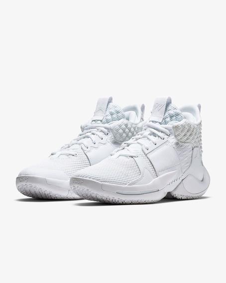 Tenis Jordan Why Not? Zer0.2 Blanco Originales Nuevos!!!!