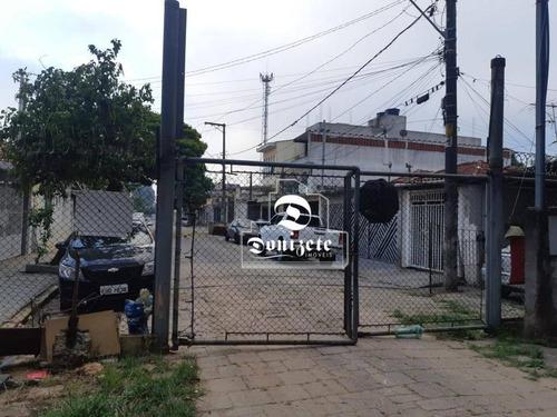 Terreno À Venda, 300 M² Por R$ 490.000,10 - Campestre - Santo André/sp - Te0963