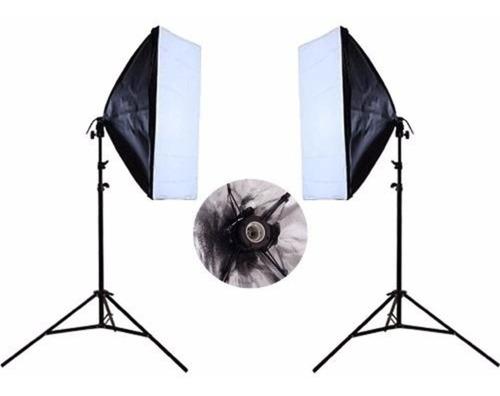 Imagem 1 de 6 de Kit Estúdio Tripe Iluminação Softbox 70x50 E27 Youtubers