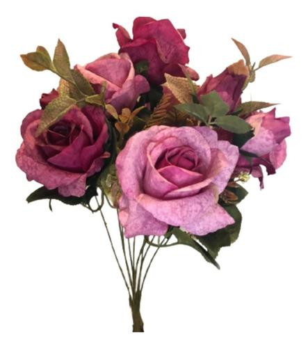 Imagem 1 de 6 de Buquê De Rosas X10 49cm - Beauty Outono