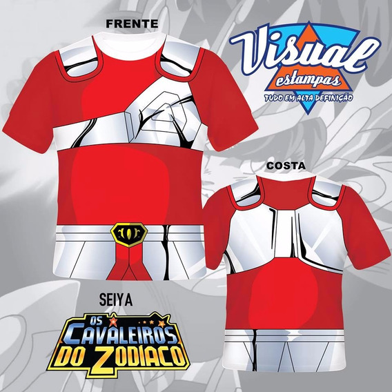 Camiseta Uniforme Cavaleiros Do Zodiaco Seiya
