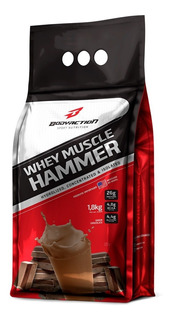 Whey Muscle Hammer Isolado 1,8kg - Body Action - Promo / Wey