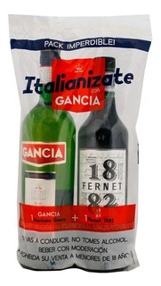 Gancia + Fernet 1882 (combo X 2 Botellas )