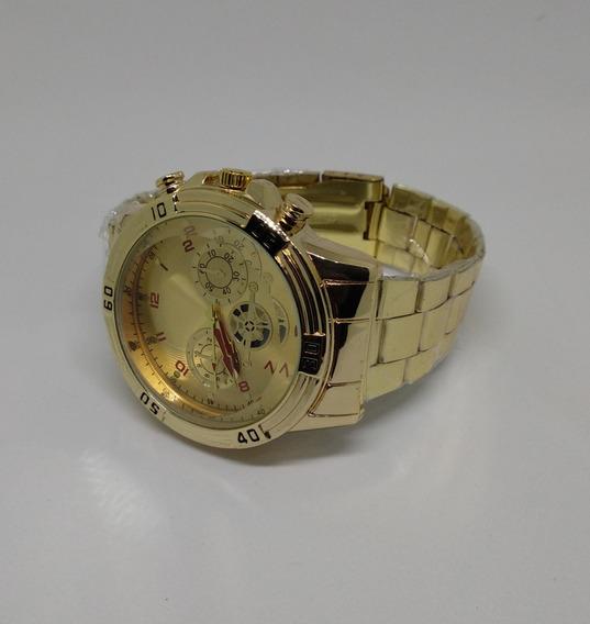 Relógio Quartz Dourado