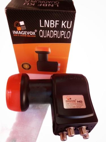 Imagem 1 de 6 de Lnb Quadruplo Full Hd Banda Ku Universal Lnbf 4 Saídas