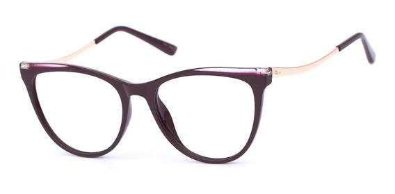 Armação Oculos Ogrife Og 1495-c Feminino Com Lente Sem Grau