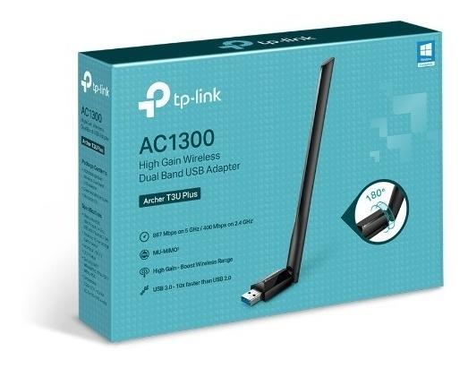 Adaptador Wifi Usb 3.0 Tp-link T3u Plus Dual Band Ac1300