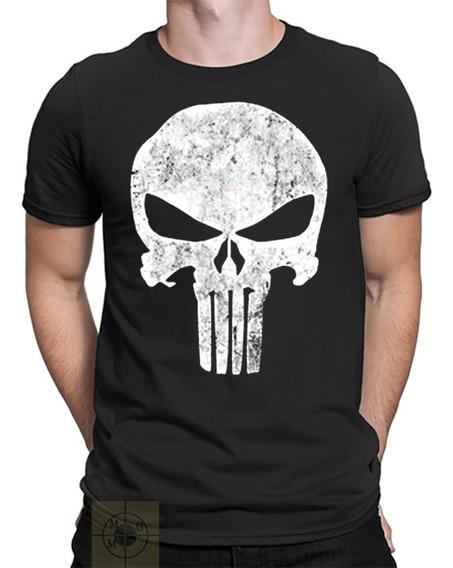 Camiseta Camisa Justiceiro Punisher Série Castle Filme Geek
