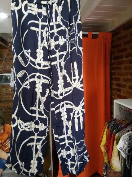 Pantalón De Seda Fría Estampado