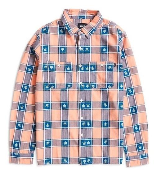 Camisa Huf Plantlife Plaid Button Up Original Cuadros Stussy