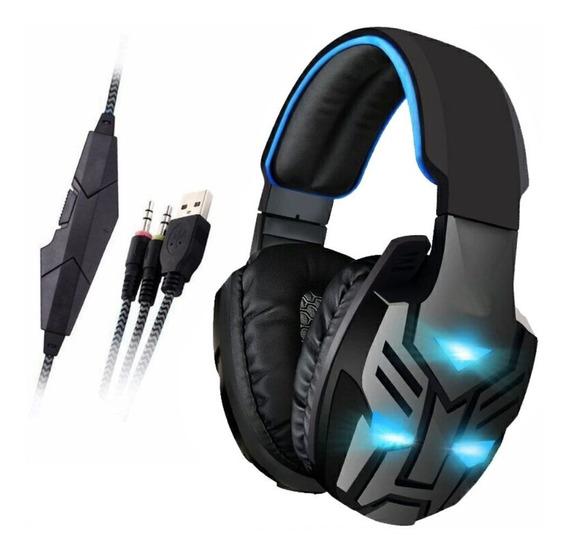 Fone Headset Gamer Fone-708 Feasso P2 C/ Vibração Para Jogos