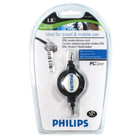 Kit 15 Cabo Retratil Rj11/rj11 Pm 1220a Philips