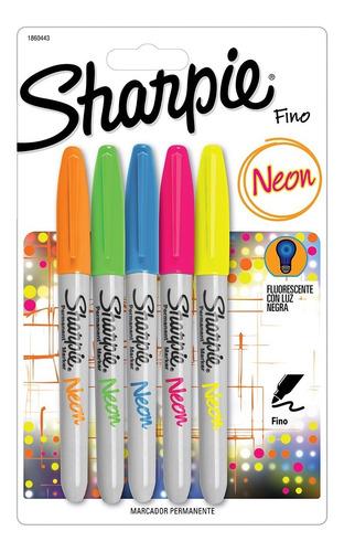 Marcador Sharpie Colores Neon X 5 Unidades