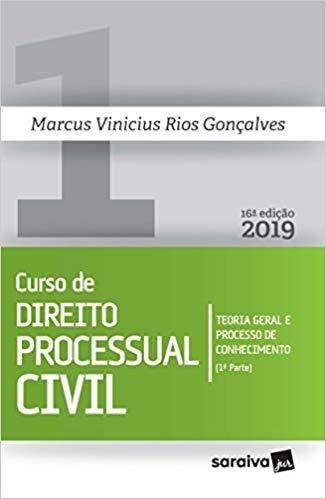 Curso De Direito Processual Civil 1-rios Gonçalves