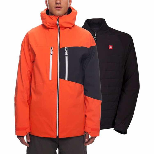 Casaco Snowboard 686 Smarty 3 Em 1 Laranja