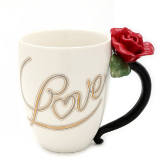 Cosmos Red Rose Teacup- 10 Oz.