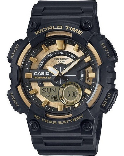 Relógio Casio Original Heavy Duty 10 Anos Bateria Databank