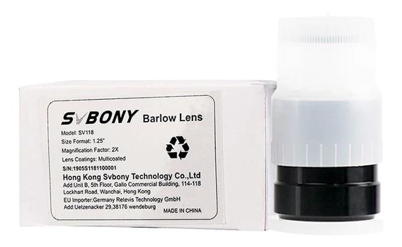 Barlow Telescópio 2x 1,25 - Svbony