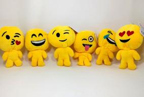 Kit 10 Pelúcia Emoji Smile, Carinhas Whatsapp