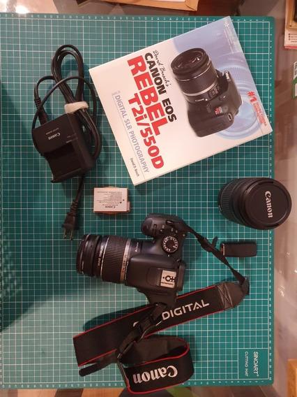 Câmera Canon Eos Rebel T2i + Kit (13968 Clicks)