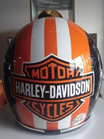 Capacete Gkuston Feito/mão Peça Única Harley Davidson 57/58