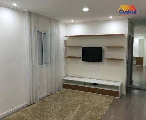 Apartamento Com 2 Dormitórios À Venda, 80 M² Por R$ 450.000,00 - Cézar De Souza - Mogi Das Cruzes/sp - Ap0902