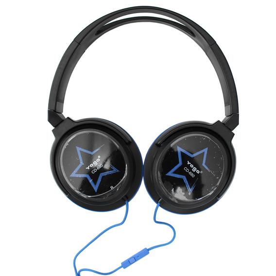 Fone De Ouvido Over-ear Cd 680 S Azul - Yoga 12x S/ Juros