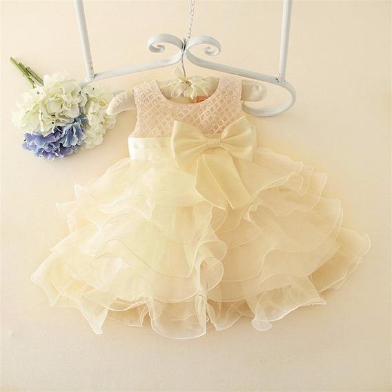 Vestido Festa Fashion - Bebê - Pronta Entrega - Batizado