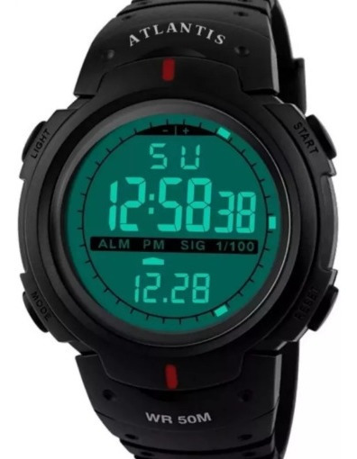 Relógio Masculino Digital Esporte Resistente À Agua Militar
