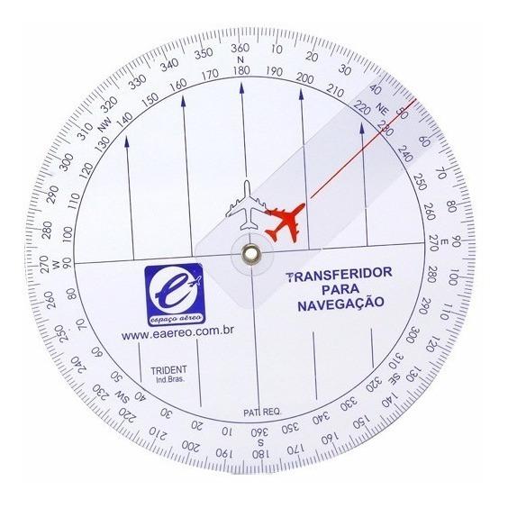 Transferidor 360° P/ Navegação Aérea
