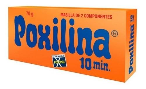 Adhesivo Poxilina Masilla De Dos Componentes 70 Grs