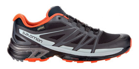 Tenis Hombre Salomon Trail Running Wings Pro 2 Gtx Negro