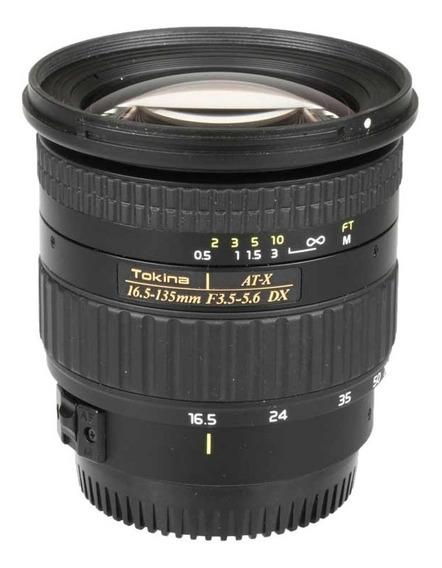 Objetiva Tokina At-x 16.5-135mm F3.5-5.6 Dx Para Canon