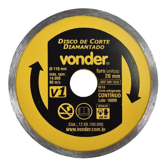 Disco Diamantado Contínuo 110mm X 20mm Úmido V1 Vonder