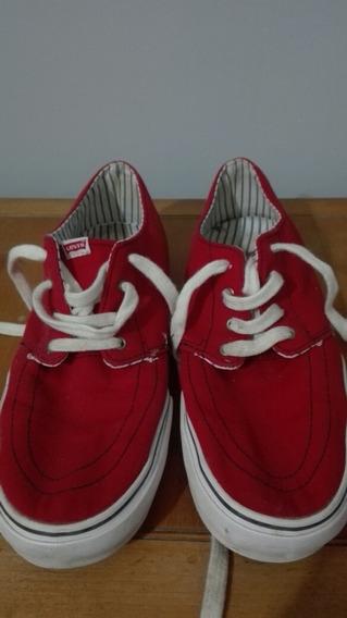 Zapatillas Levis Abi Red Talle 41,5 Un Uso Excelentes