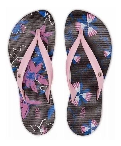 Chinelo Kenner Lips Ibiza Florida Twx Pto/rosa/azul