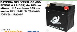 Bateria Gel Ytx5l-bs (positivo A La Der)