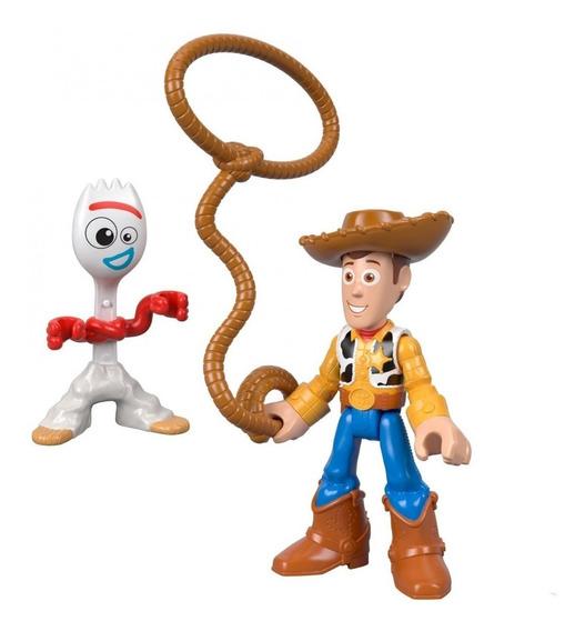 Imaginext - Toy Story - Woody E Garfinho - Original Mattel